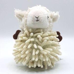 Babies R Us cream lamb rattle lovey plush soft toy